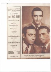 Gaby, Fofó y Miliki en una foto de un cartel de los años 50